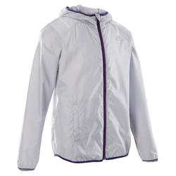 CHILDREN'S ATHLETICS WINDBREAKER GREY PURPLE