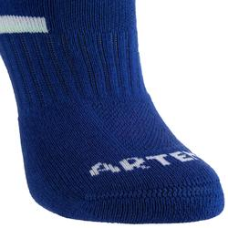 RS 500 Kids' Mid-Cut Sports Socks Tri-Pack - Blue/White