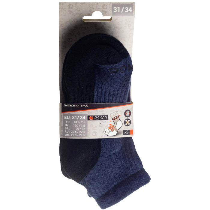 Tennissocken RS500 Mid Kinder 3er Pack marineblau