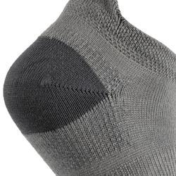 Lage tennissokken voor kinderen RS 160 grijs 3 paar