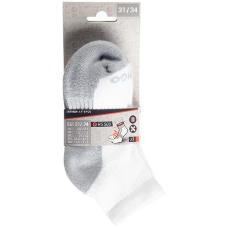 RS 500 Mid Tennis Socks Tri-Pack - White - Kids'