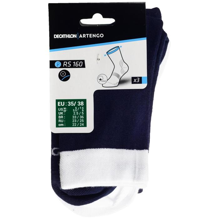 CHAUSSETTES RS 160 X3 MARINE BLANC