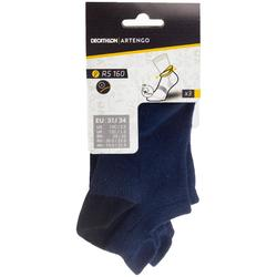 Tennissocken RS 160 Low Kinder 3er-Pack marineblau
