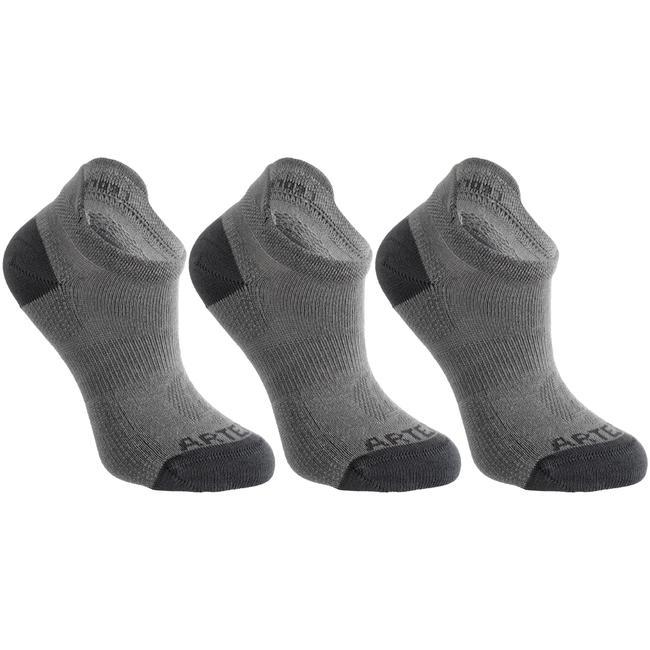 Kids' Low-Cut Tennis Socks Tri-Pack RS 160 - Grey