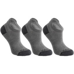 Kids' Low-Cut Tennis Socks Tri-Pack RS 160 - Grey