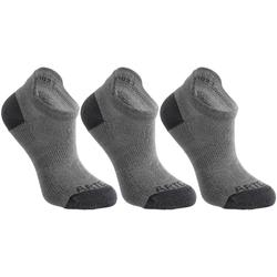 Tennissocken RS 160 Low Kinder 3er-Pack grau