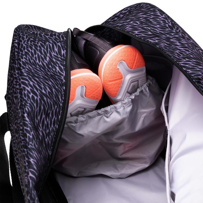 Sporttas fitness 30 liter, paars/grijs