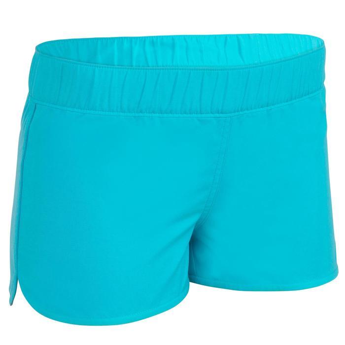 Korte meisjes zwembroek met elastische band Kina blauw