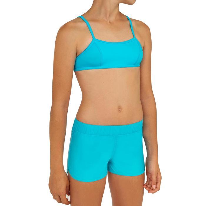 Boardshorts kurz Kina mit elastischem Taillenbund Mädchen blau