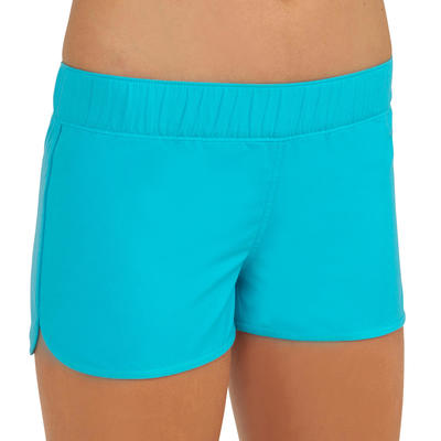 Kina Girls' Short Boardshorts with Elasticated Waistband - Blue
