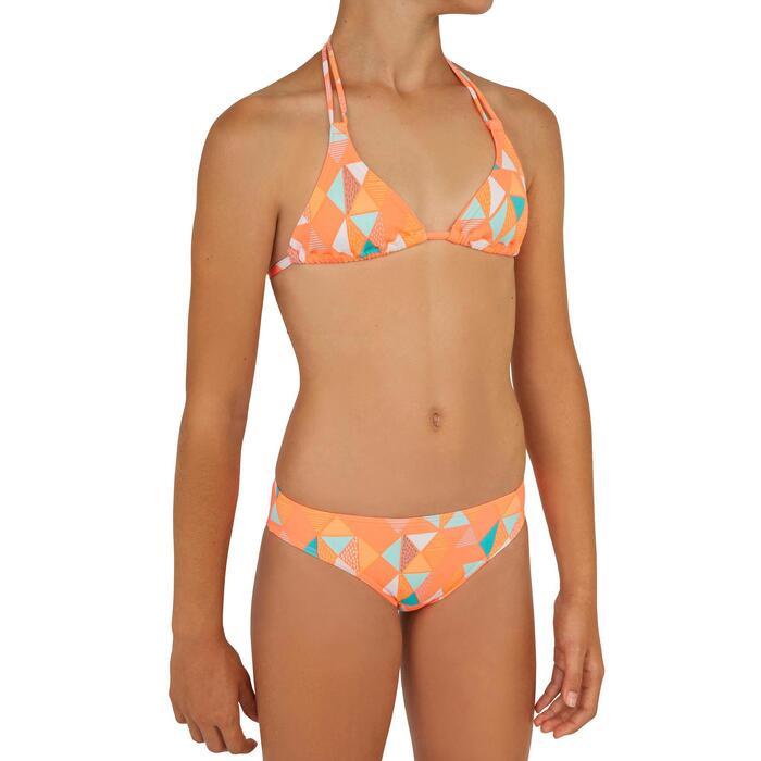 Bikini-Set Triangel Taloo Valou Surfen Mädchen rosa koralle