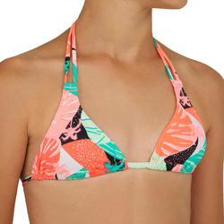 Bikini triangeltop voor surfen Taloo Lilou fluoroze