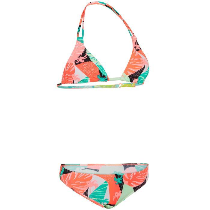 Bikini Surf Olaian Taloo Lilou Niña Rosa Flúor