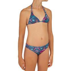 Bikini-Set Triangel Taloo Maoria Surfen Mädchen violett