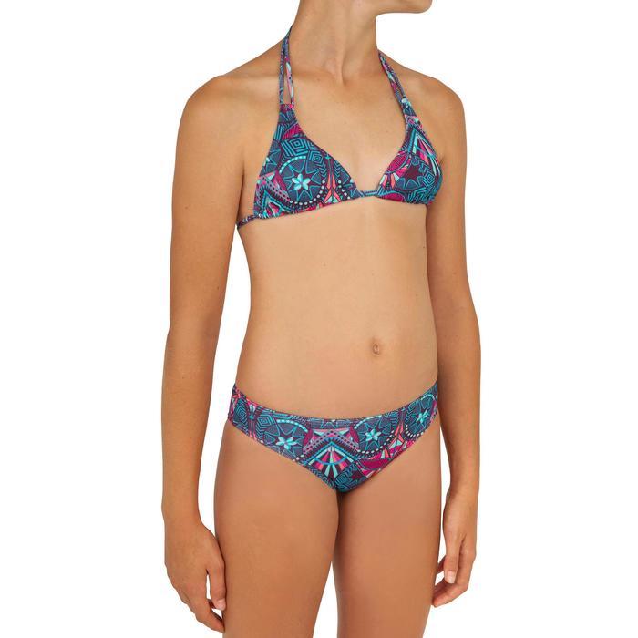 Bikini met triangeltop voor surfen Taloo Maoria paars