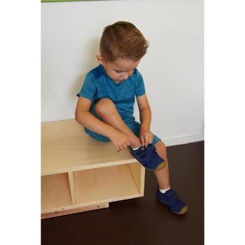 Schoentjes voor kleutergym 500 I Learn marineblauw/bruin