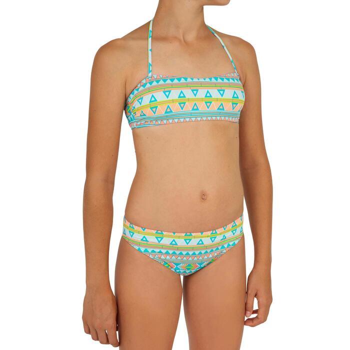 Maillot de bain 2 pièces fille de surf bandeau LILOO SAMOA BLEU