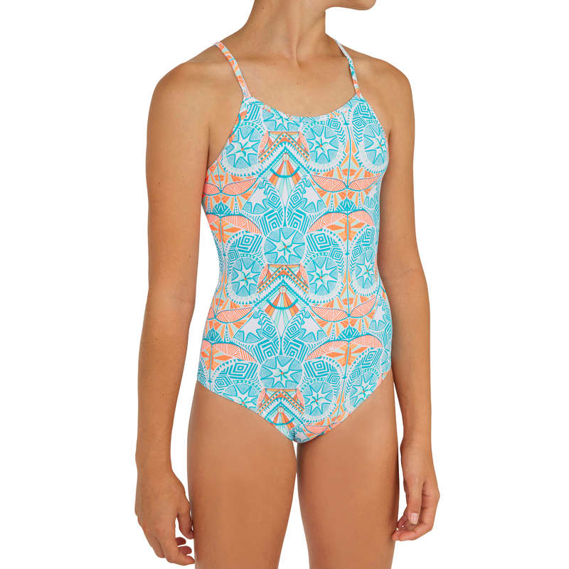 GIRL'S SWIMSUITS Surf - Hanalei Maoria - White OLAIAN - Surf Clothing