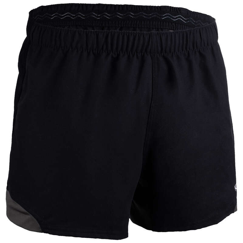 APPAREL RUGBY MEN Rugby - Adult Shorts R900 - Black/Grey OFFLOAD - Rugby Clothing