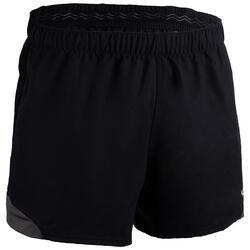Rugbyshort volwassenen R900 zwart grijs