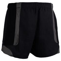 Rugbyshorts R900 Herren schwarz/grau