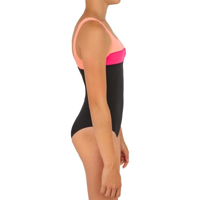 Badeanzug Holoo Surfen Mädchen schwarz/pink