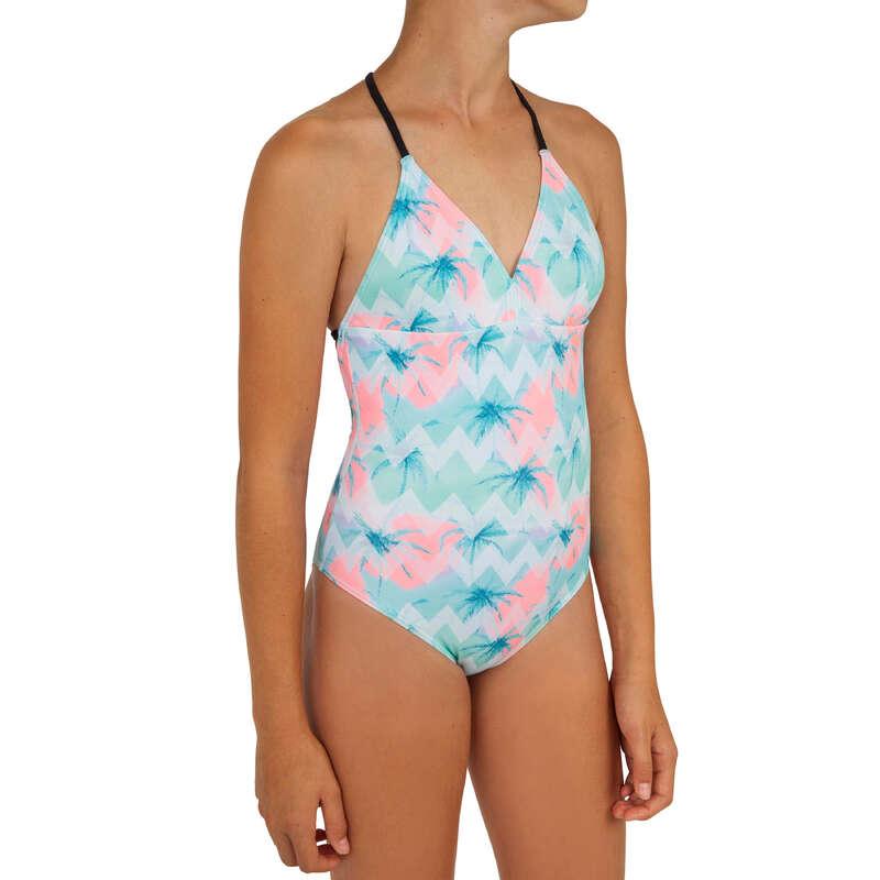 COSTUM DE BAIE FATĂ Surf, Bodyboard, Wakeboard - Costum întreg HIMAE 500 Verde  OLAIAN - Costume de baie, Protectii Solare, Papuci