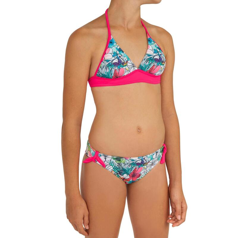 Tami Tonga Teen Girls' Two-Piece Halterneck Swimsuit with Removable Padded Cups