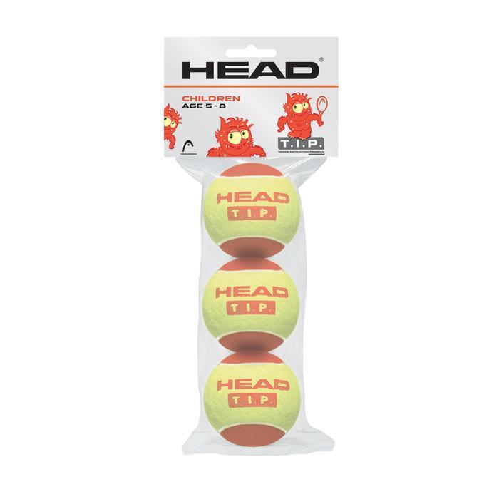 PELOTAS DE TENIS HEAD ROJO X3