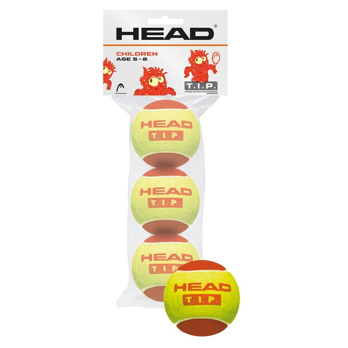 BALLES DE TENNIS HEAD ROUGE X3