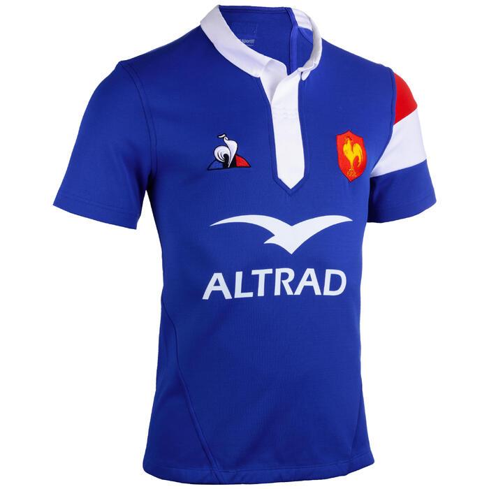 Maillot de rugby replica FFR XV de France domicile enfant bleu 2019
