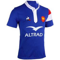 Maillot manches courtes de rugby replica FFR XV domicile adulte bleu 2019