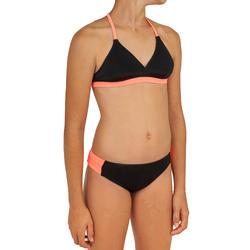 Bikini de surf niña con ALMOHADILLA BETTY CORAL Y NEGRO