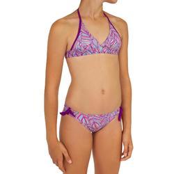 Meisjes bikini tiener met pads Tami Palm paars