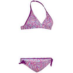 Bikini tipo fular con relleno extraíble para adolescente TAMI PALM PURPLE