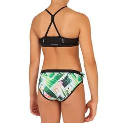 GIRL'S SURF SWIMSUIT TOP BAHA 900 GREEN