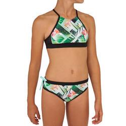 Bikinitop voor surfen meisjes Baha 900 high neck groen