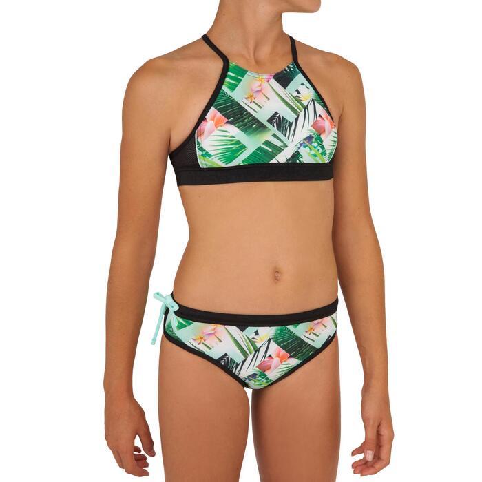 High neck top voor surfbikini meisjes Baha 900 groen
