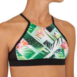 Bikini-Set Bustier Tiare gekreuzte Rückenträger Surfen Mädchen