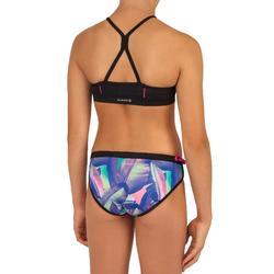 Bikini met high neck top met gekruiste bandjes voor surfen Baha Hivanea
