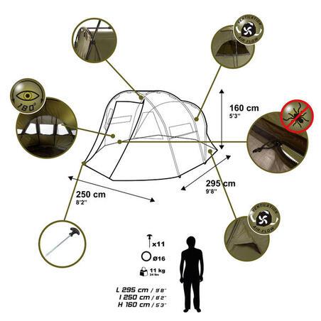 כיסוי לאוהל יחיד דגם TANKER FRONTVIEW לדיג קרפיונים