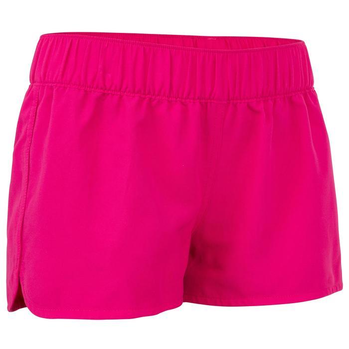 Boardshort niña corto con elástico en la cintura KINA ROSA