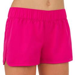 Boardshorts kurz Kina mit elastischem Taillenbund Mädchen rosa