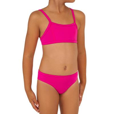 Girls  Two-Piece Crop Top Swimsuit - Bali Pink - Decathlon Sports ... 9ef0bb1609c