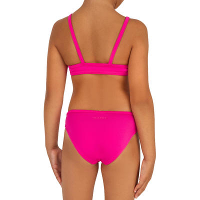 Girls' Two-Piece Crop Top Swimsuit - Bali Pink