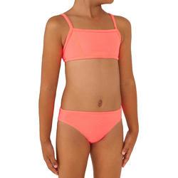 Bikini de Surf BALI 100 Menina Soutien Rosa