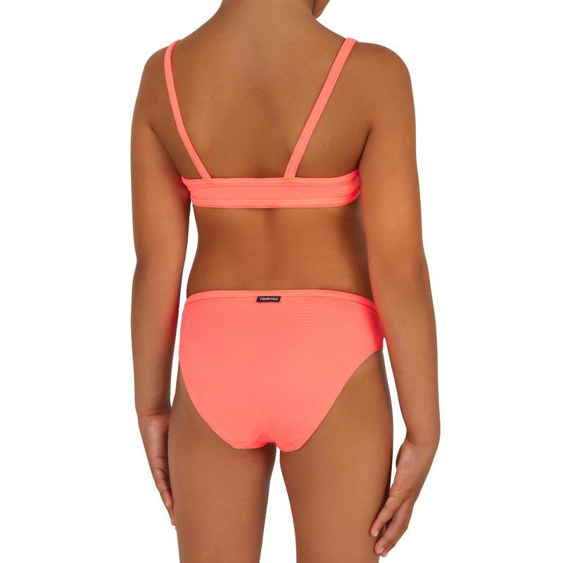 Bikini para niña con top BALI granatina