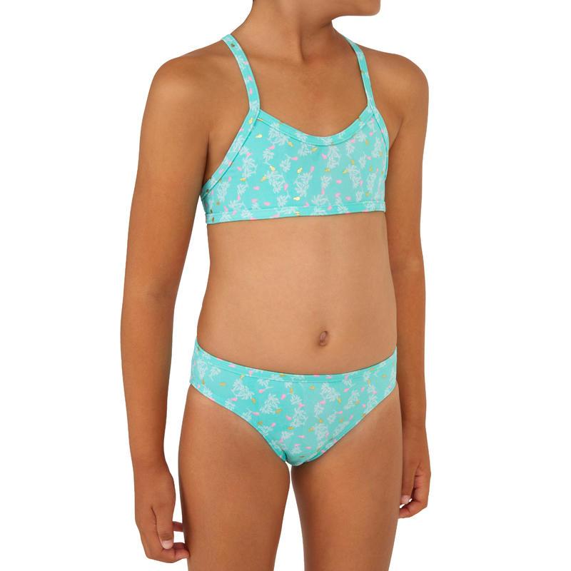 Boni Palmy Two-Piece Surfing Crop Top Swimsuit - Blue