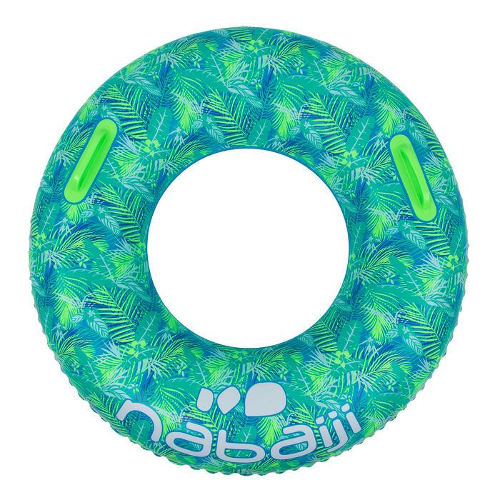 """Bouée gonflable 92 cm bleue """"ALL TROPI"""" grande taille avec poignées confort"""