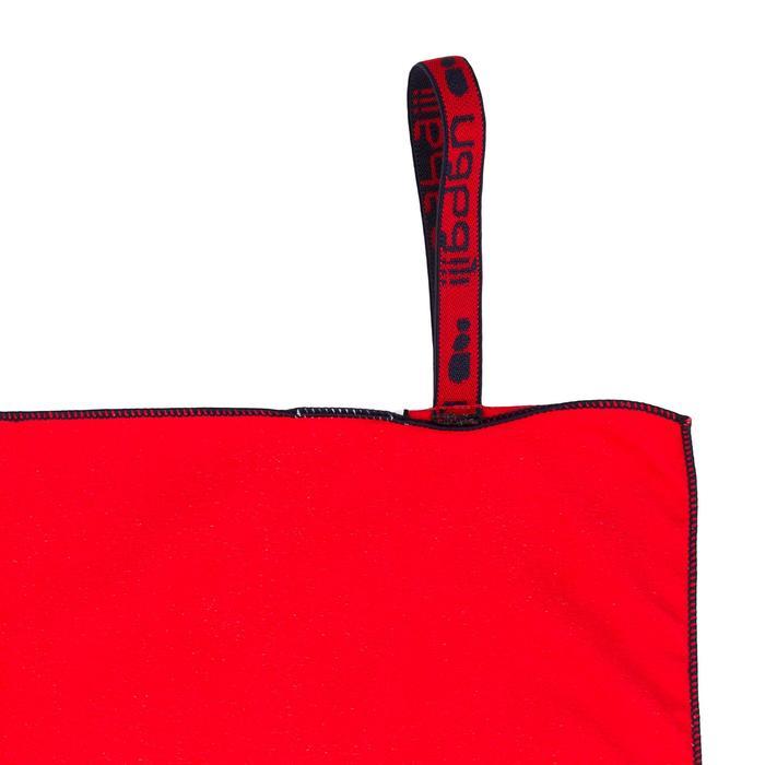 Serviette microfibre imprimé rouge/bleu L